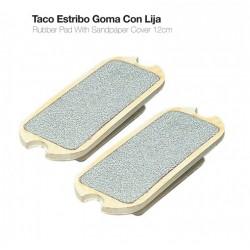 Taco estribo goma con lija