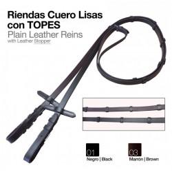 RIENDAS INGLESA CUERO CON...